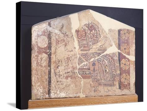 Decorative Fresco of Metope from Temple of Thermos, Greece--Stretched Canvas Print