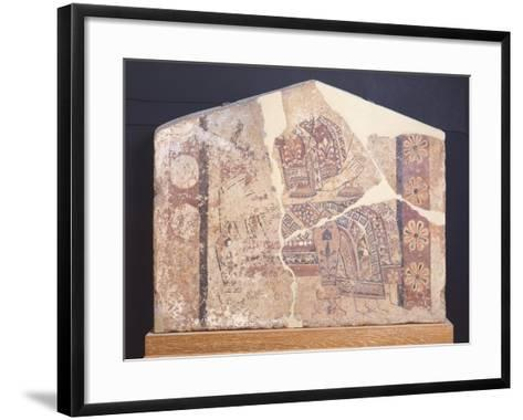 Decorative Fresco of Metope from Temple of Thermos, Greece--Framed Art Print