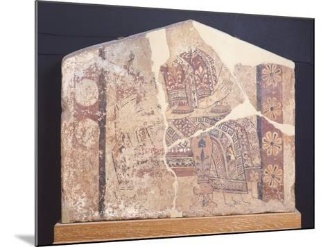 Decorative Fresco of Metope from Temple of Thermos, Greece--Mounted Giclee Print