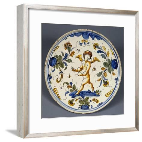 Stand Decorated with Putto Dancing on Water, Ceramic, Veneto, Italy--Framed Art Print
