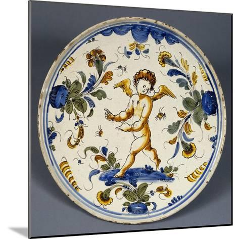 Stand Decorated with Putto Dancing on Water, Ceramic, Veneto, Italy--Mounted Giclee Print