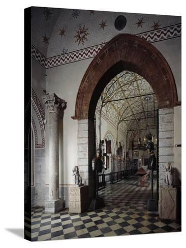 Italy, Sant Angelo Lodigiano, Morando Bolognini Castle, Entrance to Armory--Stretched Canvas Print