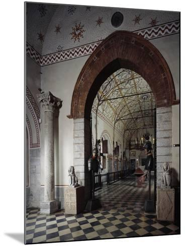 Italy, Sant Angelo Lodigiano, Morando Bolognini Castle, Entrance to Armory--Mounted Giclee Print