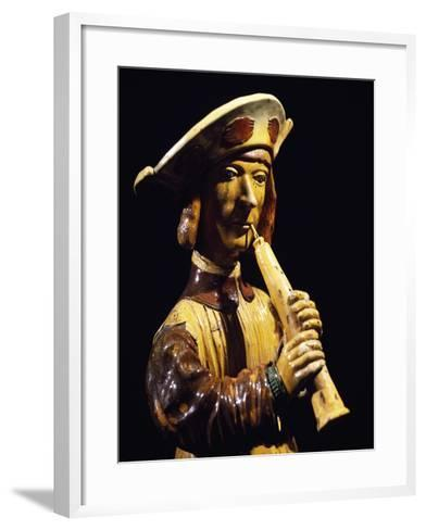 Musician, Ceramic, Beauvais Manufacture, Picardy, Detail, France--Framed Art Print