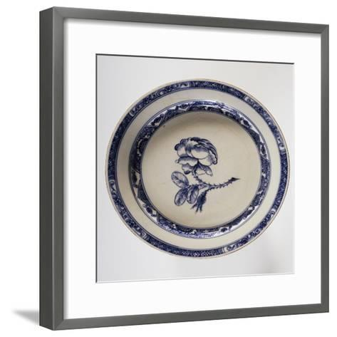 Plate Decorated with Rose Hips, 1745--Framed Art Print