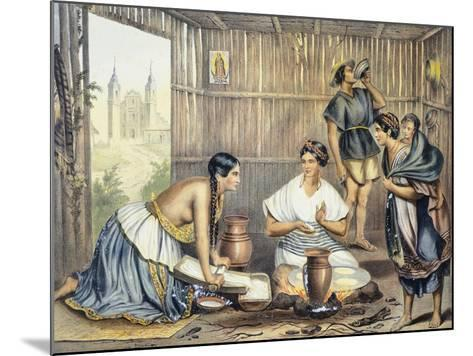Mexico, Mexicans Preparing Tortillas--Mounted Giclee Print
