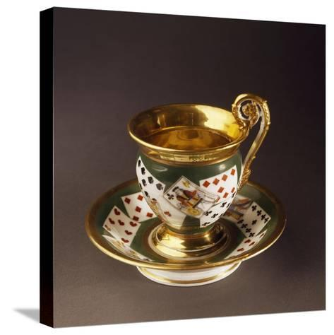 Cup and Saucer, Circa 1820--Stretched Canvas Print