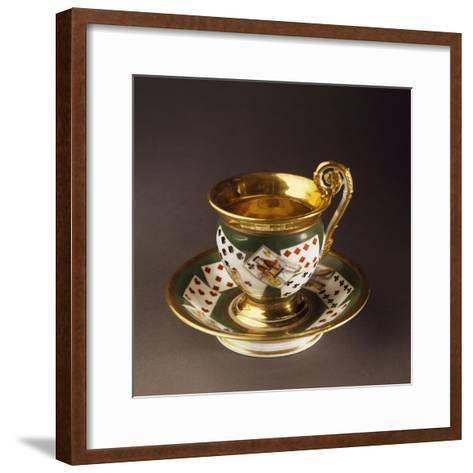 Cup and Saucer, Circa 1820--Framed Art Print
