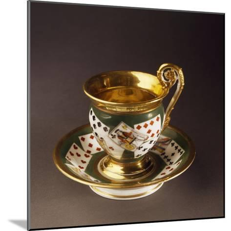 Cup and Saucer, Circa 1820--Mounted Giclee Print