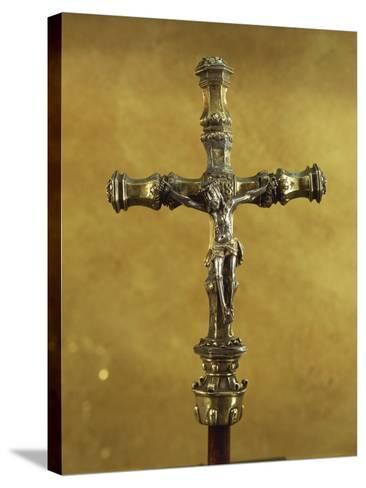 Silver Gilt Processional Cross, from Donas Sentarem Convent, Lisbon--Stretched Canvas Print