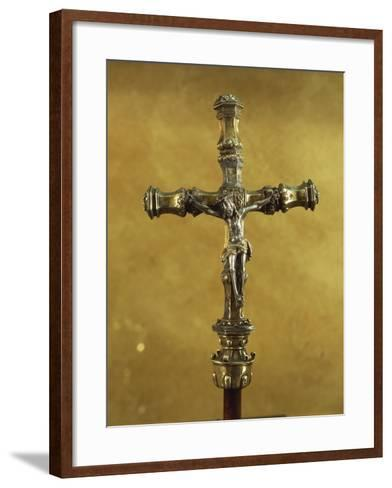 Silver Gilt Processional Cross, from Donas Sentarem Convent, Lisbon--Framed Art Print