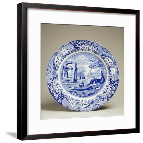 Plate Decorated with Landscape, Ceramic--Framed Art Print