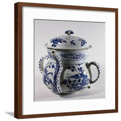 Delftware Posset Pot with Lid, Ca 1730--Framed Art Print