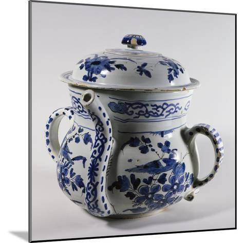 Delftware Posset Pot with Lid, Ca 1730--Mounted Giclee Print