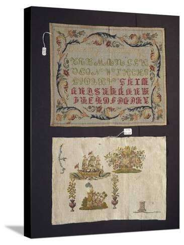 Cross-Stitch Embroidery on Thin Hemp Cloth--Stretched Canvas Print