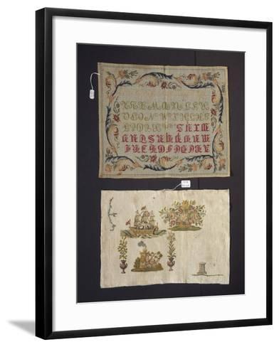 Cross-Stitch Embroidery on Thin Hemp Cloth--Framed Art Print