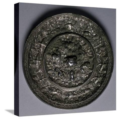 Bronze Mirror, China, Tang Dynasty, 7th-10th Century--Stretched Canvas Print