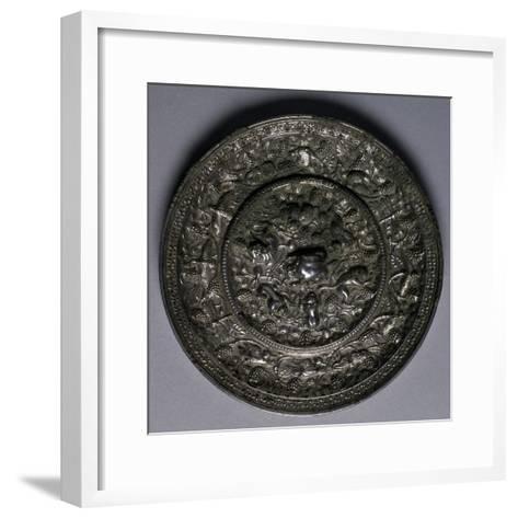 Bronze Mirror, China, Tang Dynasty, 7th-10th Century--Framed Art Print