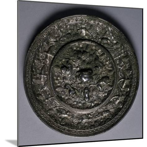 Bronze Mirror, China, Tang Dynasty, 7th-10th Century--Mounted Giclee Print