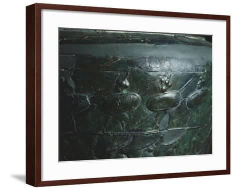 The Situla of Certosa, Detail Showing a Procession of Soldiers--Framed Art Print