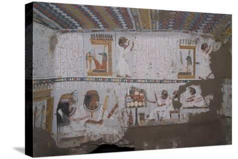 Egypt, Thebes, Luxor, Sheikh 'Abd El-Qurna, Tomb of Amenwahsu Detail--Stretched Canvas Print