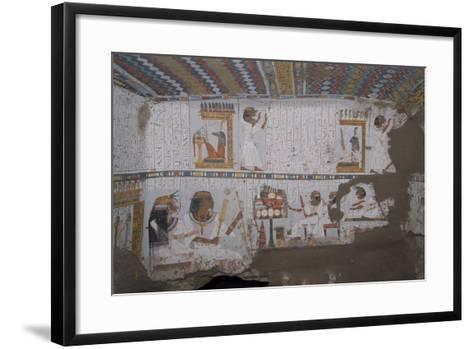 Egypt, Thebes, Luxor, Sheikh 'Abd El-Qurna, Tomb of Amenwahsu Detail--Framed Art Print