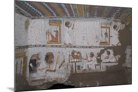 Egypt, Thebes, Luxor, Sheikh 'Abd El-Qurna, Tomb of Amenwahsu Detail--Mounted Giclee Print