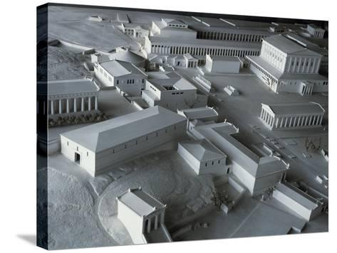 Plastic Model of Acropolis in Athens, Greece--Stretched Canvas Print
