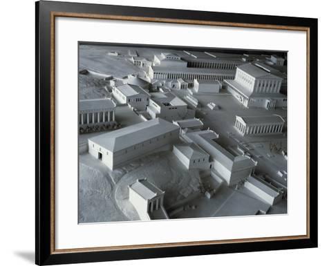 Plastic Model of Acropolis in Athens, Greece--Framed Art Print