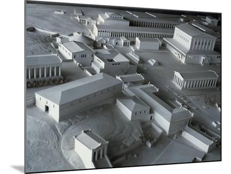 Plastic Model of Acropolis in Athens, Greece--Mounted Giclee Print