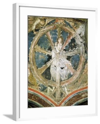 Martyrdom of St Catherine of Alexandria in Cathedral of Notre-Dame, Le-Puy-Notre-Dame, France--Framed Art Print
