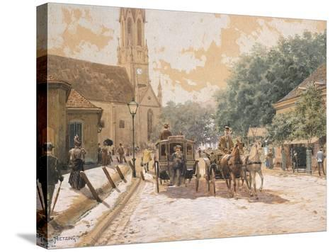 Scene of Everyday Life in Vienna, Austria--Stretched Canvas Print