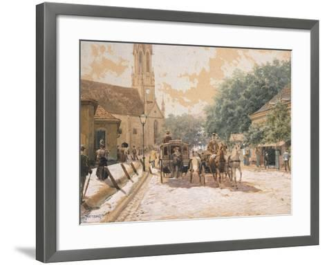 Scene of Everyday Life in Vienna, Austria--Framed Art Print