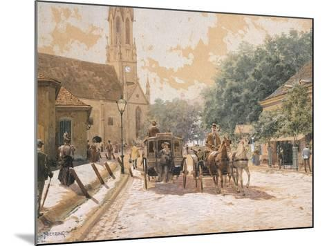 Scene of Everyday Life in Vienna, Austria--Mounted Giclee Print