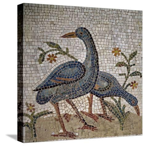 Mosaic of Water Birds Uncovered in Trier, Germany--Stretched Canvas Print