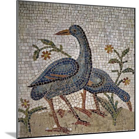Mosaic of Water Birds Uncovered in Trier, Germany--Mounted Giclee Print
