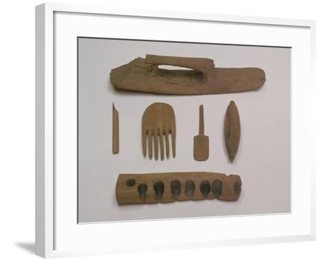 Indian: Wooden Tools and Implements, Mazar Tagh, Tunhuang, Mazar Toghrak, Ying Pan and Niya--Framed Art Print