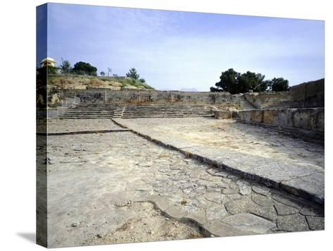 The Theatre of Western Court, at Phaistos Palace, Crete, Minoan Civilization, 16th-15th Century BC--Stretched Canvas Print