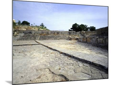 The Theatre of Western Court, at Phaistos Palace, Crete, Minoan Civilization, 16th-15th Century BC--Mounted Giclee Print
