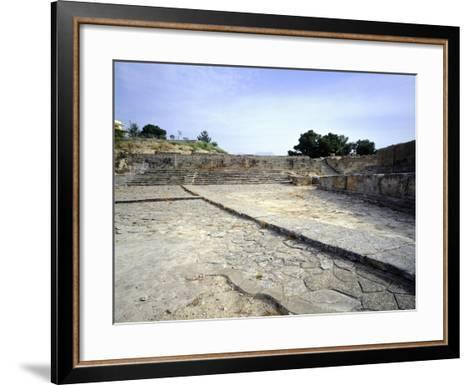 The Theatre of Western Court, at Phaistos Palace, Crete, Minoan Civilization, 16th-15th Century BC--Framed Art Print