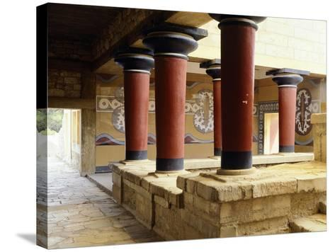 Greece, Crete, Guard's Courtyard at Northern Wing of Knossos Palace--Stretched Canvas Print
