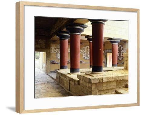 Greece, Crete, Guard's Courtyard at Northern Wing of Knossos Palace--Framed Art Print