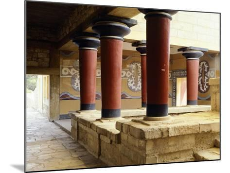 Greece, Crete, Guard's Courtyard at Northern Wing of Knossos Palace--Mounted Giclee Print