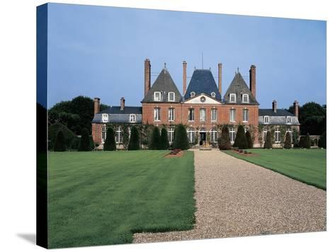 Facade of a Castle, Mesnil Geoffroy Castle, Normandy, France--Stretched Canvas Print