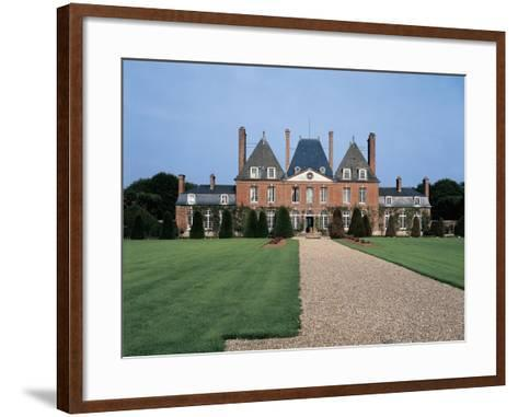 Facade of a Castle, Mesnil Geoffroy Castle, Normandy, France--Framed Art Print