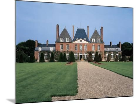 Facade of a Castle, Mesnil Geoffroy Castle, Normandy, France--Mounted Giclee Print