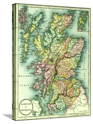 Map of Scotland or North Britain, 1852, from J.Purdy's Atlas--Stretched Canvas Print