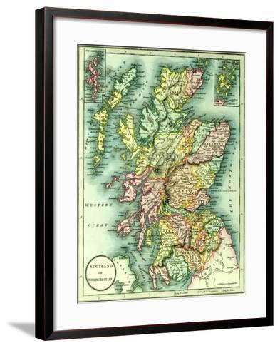 Map of Scotland or North Britain, 1852, from J.Purdy's Atlas--Framed Art Print