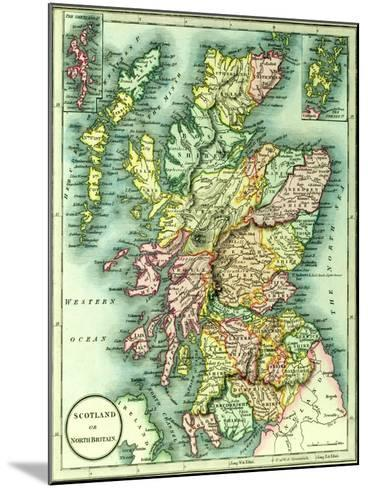 Map of Scotland or North Britain, 1852, from J.Purdy's Atlas--Mounted Giclee Print
