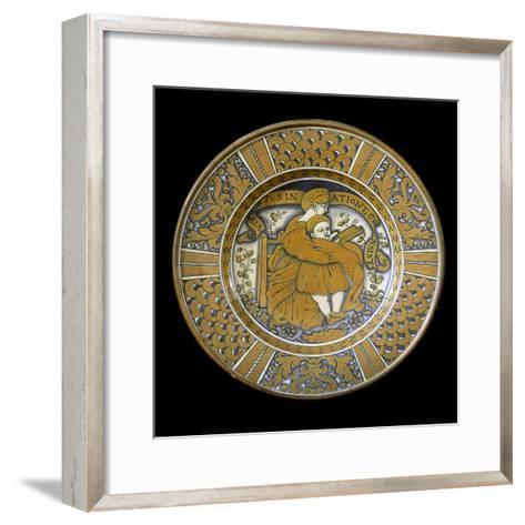 Plate, Ceramic, Deruta Manufacture, Umbria, Italy--Framed Art Print